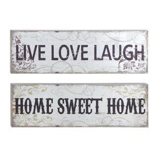Inspiring Words Wooden Wall Panels (Set of 2)