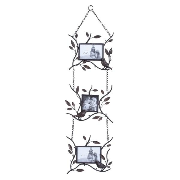 Hanging Vine Style Metal 3-photo Frame