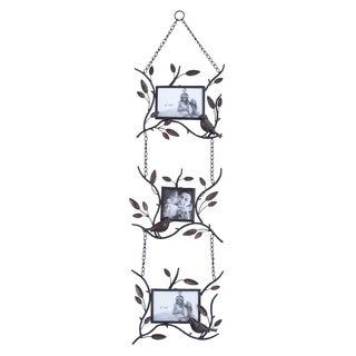 Hanging Vine Style Metal 3-photo Frame