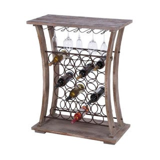 Natural Wood 40-inch Tall Wine Bar