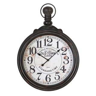 28-inch Wood Wall Clock