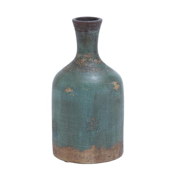 Turquoise Terra Cotta Vase