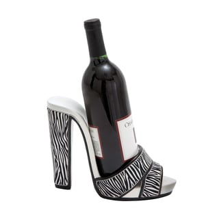 Jungle Print High Heel Shoe Wine Holder