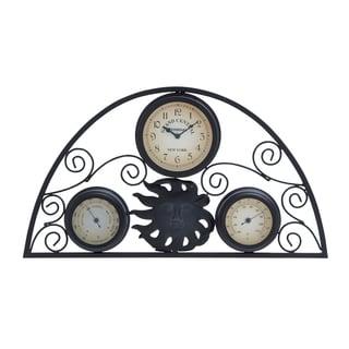 Metal Clock Thermometer