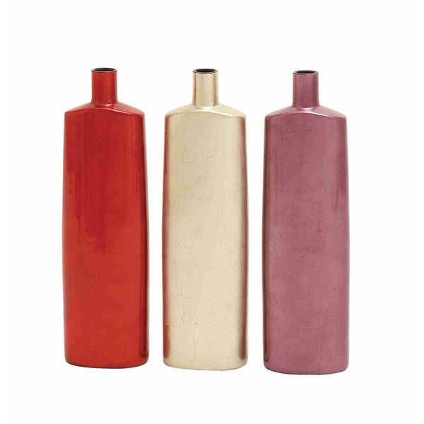 Assorted Lacquer Wood Vases (Set of 3)