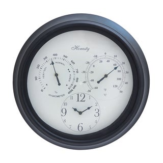 Bold Roman Numerals in Black Font Outdoor Clock