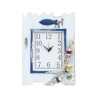 Fishing Themed Wooden Clock