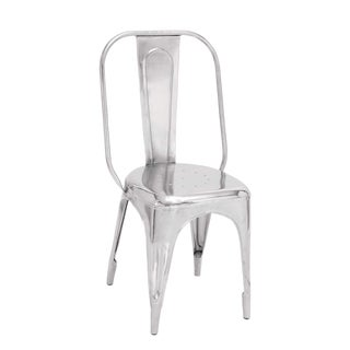 Modern Nickel Finish Metal Chair