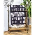 Traditional Black Finish Wood/ Metal Towel Rack