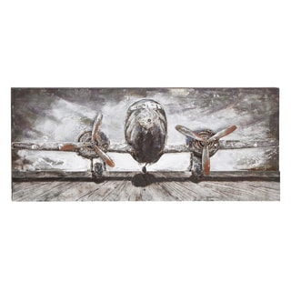 Wood/ Metal Airplane Wall Decor
