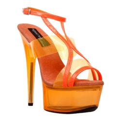 Women's Highest Heel Glow-111 Neon Orange Patent