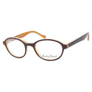 Lucky Lukas Brown Orange Prescription Eyeglasses