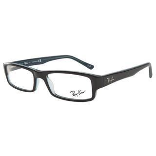 Ray-Ban RB5246 5092 Black Grey-Turquoise Prescription Eyeglasses