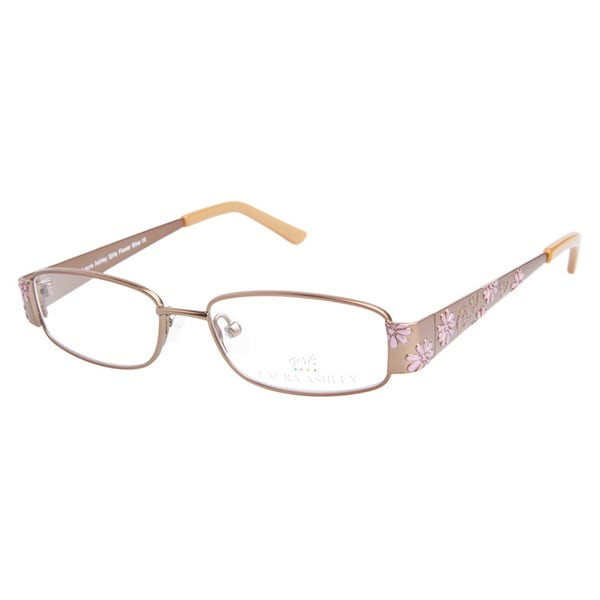Laura Ashley Girls Flower Bliss Brown Sugar Prescription Eyeglasses