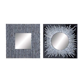 Assorted Lacquer Finish Mirror (Set of 2)