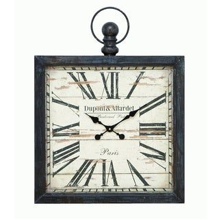 Square Metal Wall Clock