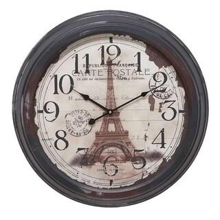 Eiffel Towel Metal Wall Clock