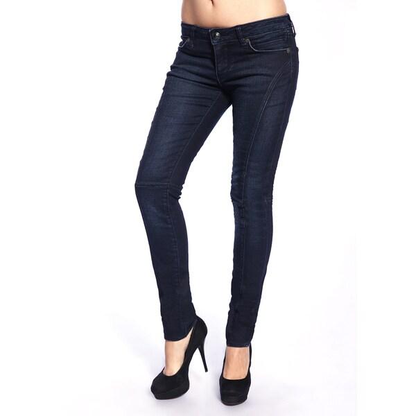 Stitch's Women's Slim Leg Blue Wash Skinny Jeans