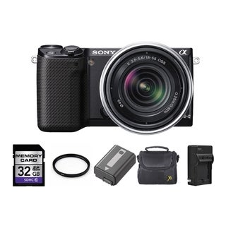 Sony Alpha NEX-5R Mirrorless Digital Camera 18-55mm Lens 32GB Bundle