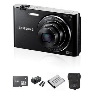 Samsung MV900F MultiView 16.3MP Black Digital Camera 4GB Bundle