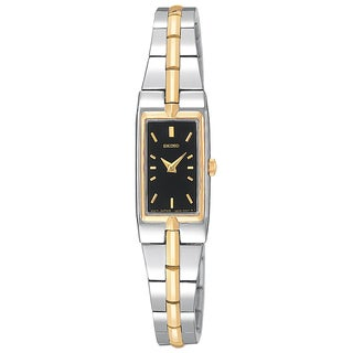 Seiko Women's Two-Tone Black Dial Watch