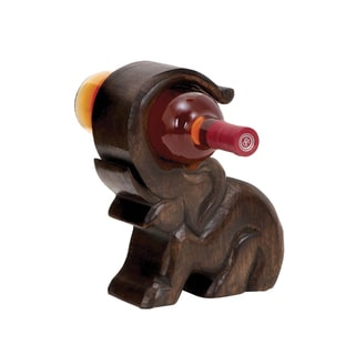 Wood Elephant Wine Holder