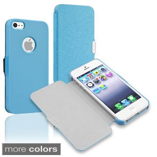 BasAcc Leather Case with Magnetic Flap for Apple iPhone 5/ 5S