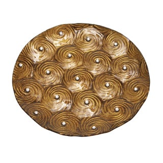 Beautiful Glass Charger Plate with Abstract Design - Set of 12