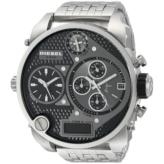 Diesel Men's DZ7221 Silver Stainless Steel Black Dial Analog Quartz Watch