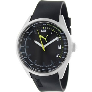 Puma Men's Black Silicone Black Dial Analog Quartz Watch