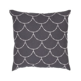 Handmade Grey and White Cotton/ Flax 18x18-inch Throw Pillow