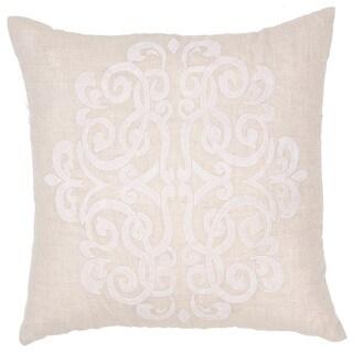 Handmade Linen 20x20-inch Throw Pillow
