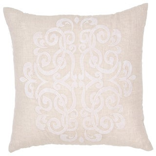 Handmade Linen 20x20-inch Throw Pillow