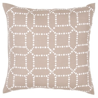 Handmade Cotton/ Flax 18x18-inch Throw Pillow