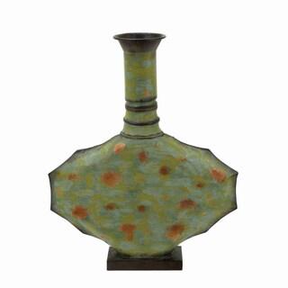 Metal Vase Green with Timeless Design