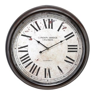 Metal Wall Clock with Big Roman Numbers