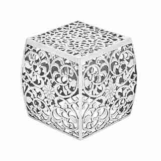 Intricate Metal Stool