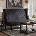 Baxton Studio Swaffield Gray Linen Modern Banquette Bench