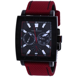 Christian Van Sant Men's Chateau Watch with Red Strap