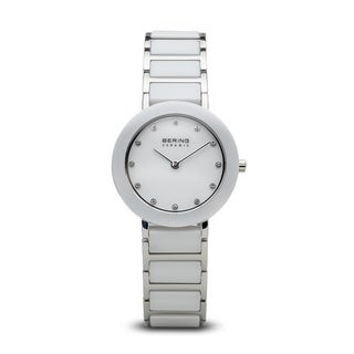 Bering Time Women's 11429-754 Ceramic White and Silver Watch