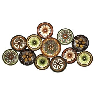 Multicolor Floral Metal Wall Decor