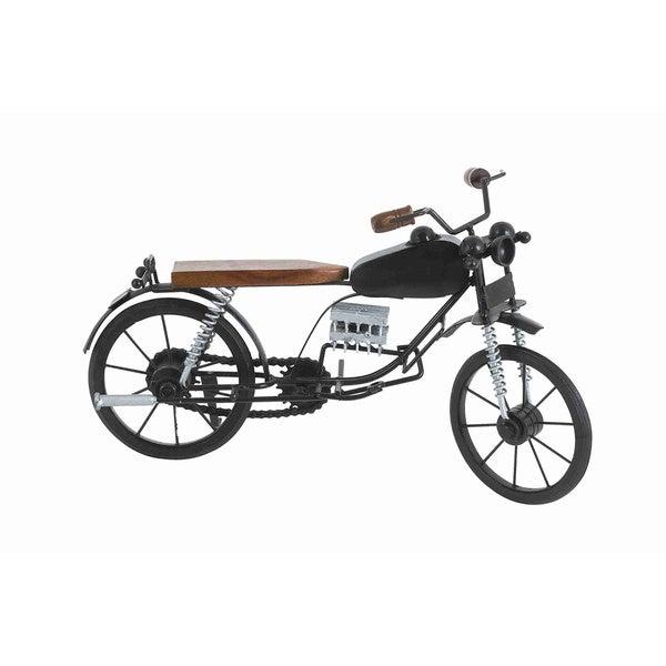 Brown/ Black Motorcycle Figurine