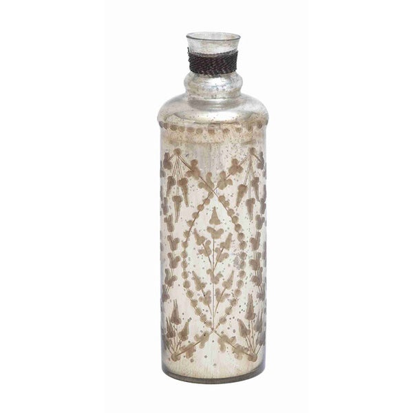Brown/ White Glass Bottle
