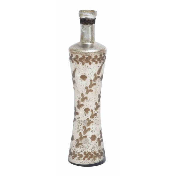 White/ Light Brown Glass Bottle