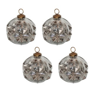 Deco Ball Ornaments (Set of 4)