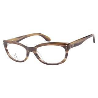 Calvin Klein CK5728 274 Brown Horn Prescription Eyeglasses