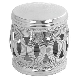 Aluminium Interconnected Ring Pattern Stool