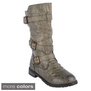 Jacobies Women's 'Tina-13' Mid-calf Combat Boots