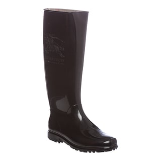 Burberry Women's Black Equestrian Knight Rain Boots