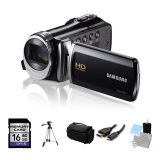 Samsung HMX-F90 High Definition Black Camcorder 16GB Bundle